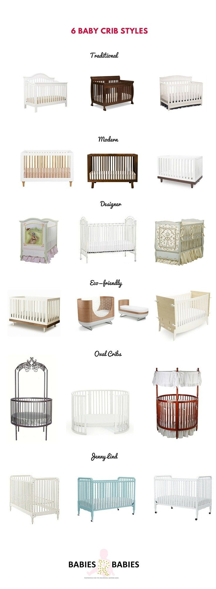 6 baby crib styles