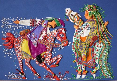 Plasticine painting by Ukrainian artist Tatiana Barinova