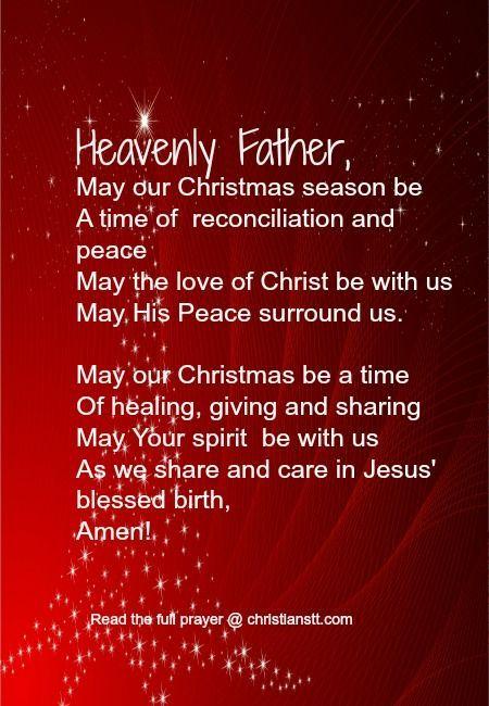 Christmas Season prayer: