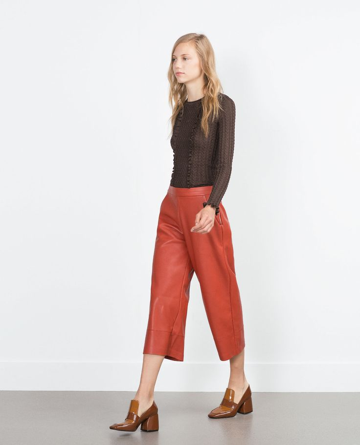 FAUX LEATHER TROUSERS - Trousers - TRF | ZARA France