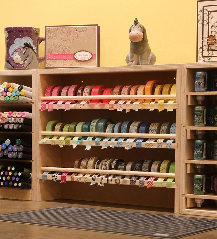 The Washi Tape Holder is great for storing all of your washi tape! .