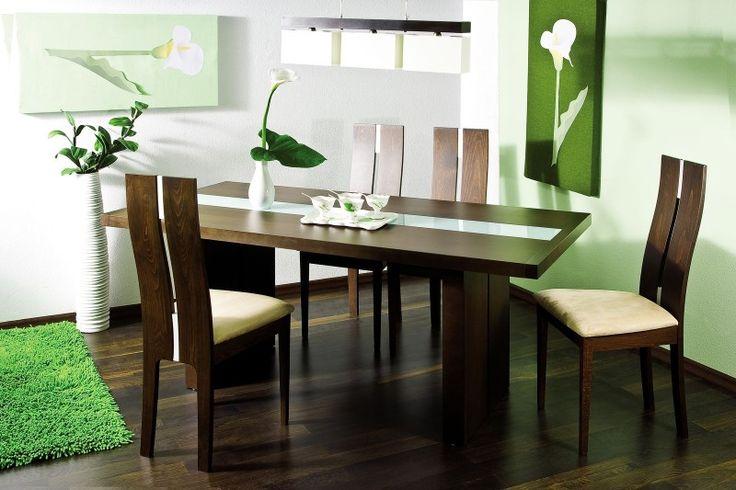 AUGUSTO jedálenský stôl, orech D07. Jedálenský stôl jednoduchého prevedenia pre 8 osôb. Vyrobené z bukového dreva s morením vo farbe orech, stolovacia doska je v strede presklená. Stôl je vhodný pre moderne riešenú jedáleň alebo kuchyňu.Odporúčame stoličky CB-24.Jedálenské stoličky na obrázku si môžete doobjednať - viď sekciu Odporúčame.    Cena: 248.585 EUR