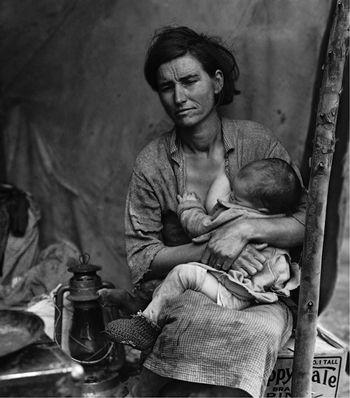 "1936. Mars. Dorothea Lange, ""Mère migrante"", Nipomo, Californie"