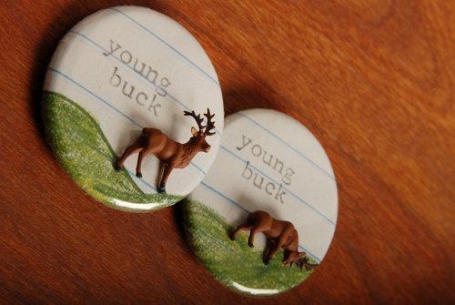 Young Buck Button par beckysbuttons sur Etsy, $5,00