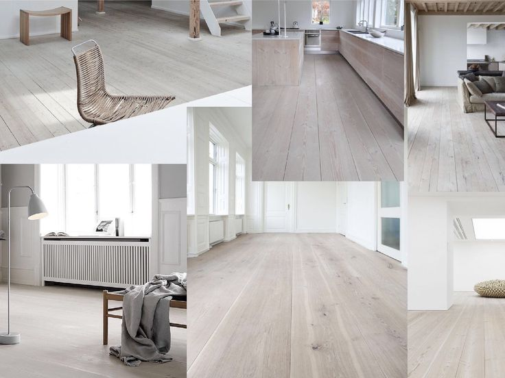 Floor inspiration - white oak // moodboard by Milou Nieuwenhuis