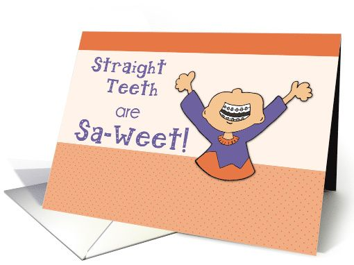 Congratulations on Getting Braces On! card (1385312)