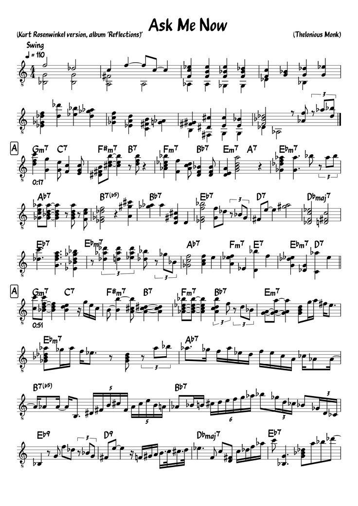 16 best Transcriptions (Jazz etc.) images on Pinterest   Jazz ...