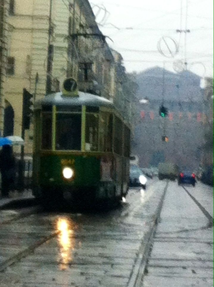 I took this photo on Saturday 4th Jan 2014.  Torino is amazing.  More on a future blog post. #old#tram#Turin#Torino#city#Italy #blog#travel#vacation#holiday#journey #myfamilyandabruzzo