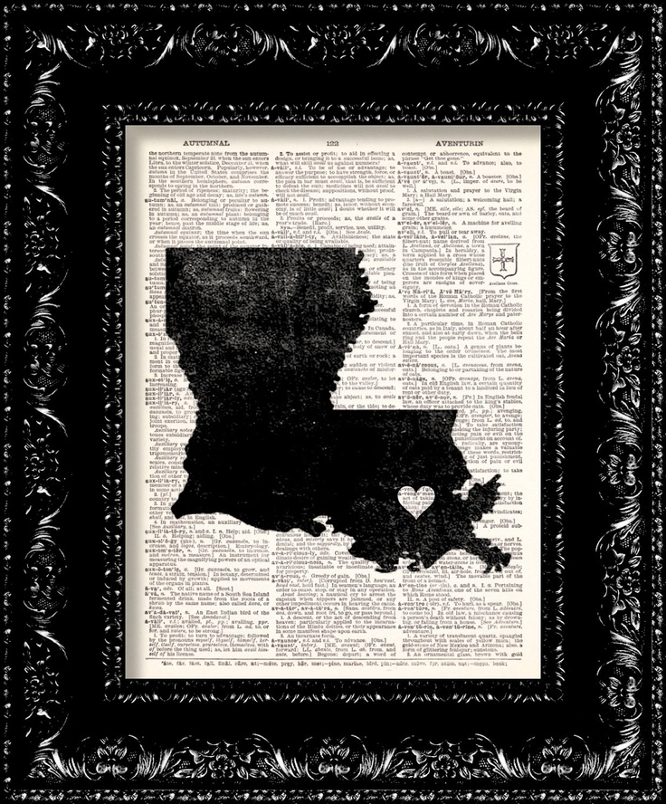 dollar store frame, contruction paper and newspaper :) Perfect gift for out of state friends.