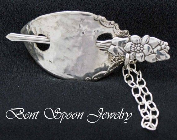 Silverware Jewelry Ornate Floral Vintage by Bentspoonjewelry, $29.00