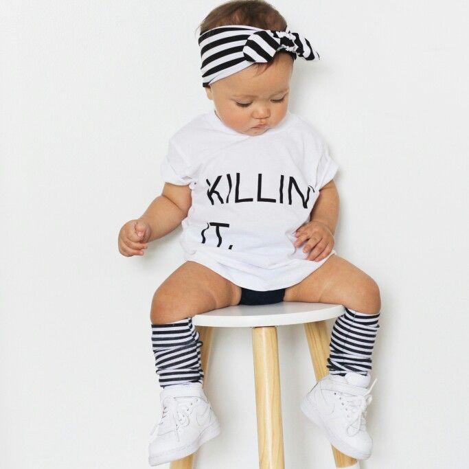 Headband: Archnollie  Tshirt: Little Urban Apparel  Socks: Factory Sneakers: Nike