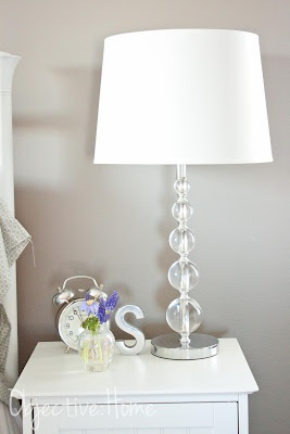 Feminine and sparkly, yet modern and luxurious lamps. $35