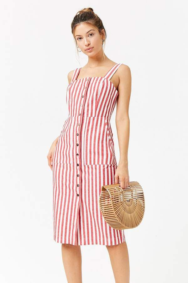 f2b621a97ee5 Forever 21 Striped Button-Front Dress | Trending Fashion | Fashion ...