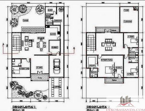 The 7 best floor plans images on pinterest house design floor denah rumah minimalis type 90 malvernweather Choice Image