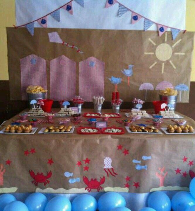 Diseño y decoracion de eventos# cumpleaños playero