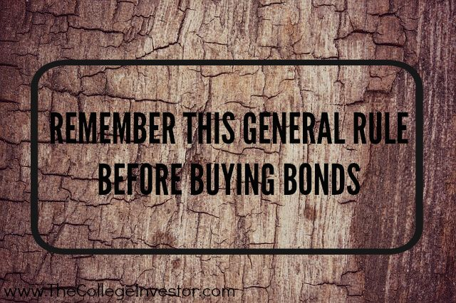 Investing Tip #182: Remember The General Rule When Buying Bonds