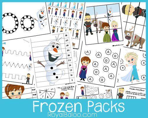 Des cahiers d'activités Reine des Neiges gratuits avec exercices de lettres, tracés, écriture, mathématiques, en 4 niveaux différents, à télécharger en pdf