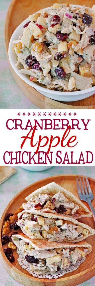 Cranberry Apple Chicken Salad #chickensalad