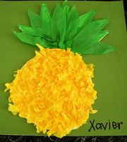 Kids Art & Craft Activities - Tropical Pineapples