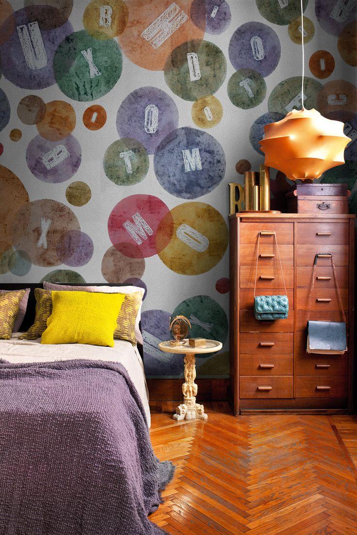 17 migliori idee su carta da parati a pois su pinterest bagno a pois pareti a pois e punti - Idee deco wallpaper volwassene kamer ...