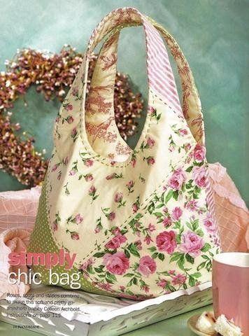 Hoy les traigo unas bellezas de bolsos, este vez en tela            Mod 2