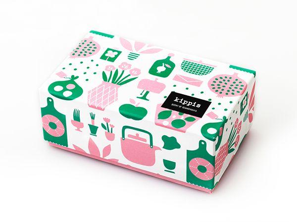 Koti pattern for Japanese textile brand Kippis #pattern #illustration #giftbox