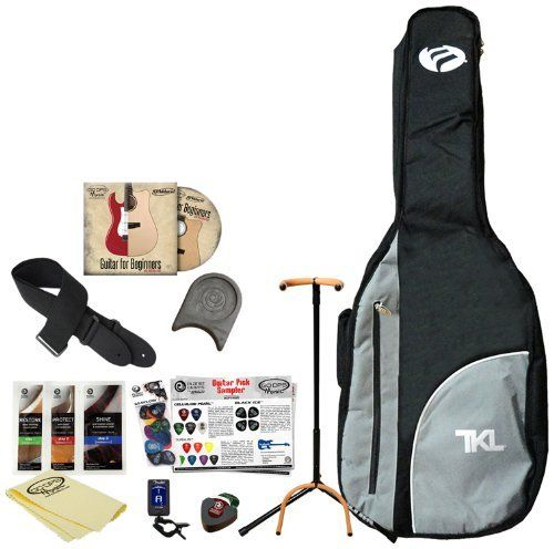 GO-DPS AG-VPK2 Acoustic Guitar Accessory Pack with Gig Bag, Stand, Strap, DVD, Guitar Rest, Polish, Pick Holder, Tuner, Cloth and Picks by GO-DPS. $30.89. No need to shop for guitar accessories as they're all included in this exceptional value added package. This essential acoustic guitar accessory pack includes: Ultra guitar stand (2445BK), Planet Waves Guitar Strap (PWS100v), D'Addario/GoDpsMusic Guitar for Beginners DVD, Planet Waves 10' Cable (PW-CGT-10), Planet ...