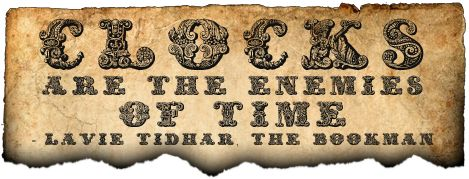 "Steampunk Font: Exotica  The highly ornate Steampunk font ""Exotica"" has an intricate, beautiful texture combining floral and mechanical motifs, rich in sinuous lines and recurrent organic patterns. It works best on a large scale, over 72px and, as such is best suited for signs and various types of headers. ""Exotica"" can also be very effective along side regular typefaces when used for drop capitals."