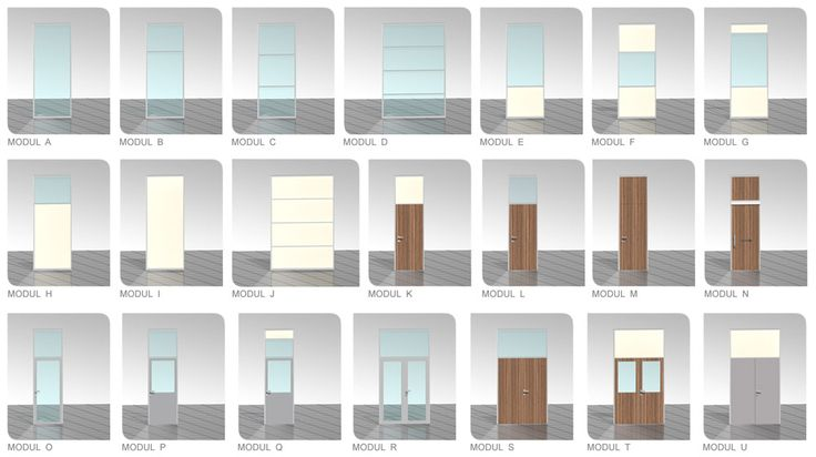 Základní příčkové a dveřní moduly