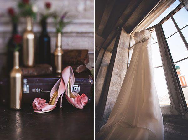 розовые свадебные туфли #wedding #bride #shoes #dress