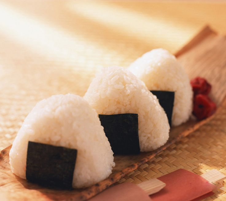 The traditional onigiri. I wonder how these taste fried? ;)