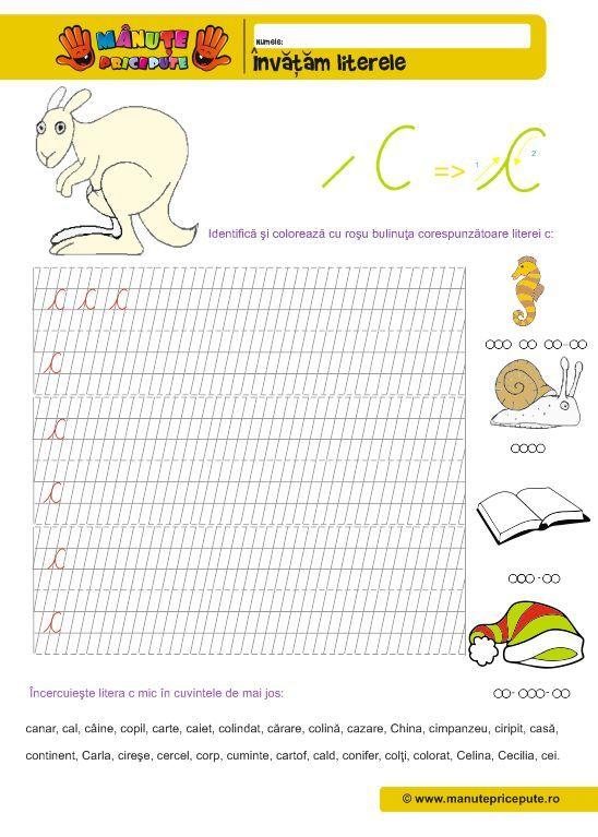 Manute pricepute - Fise de lucru abecedar - Litera C