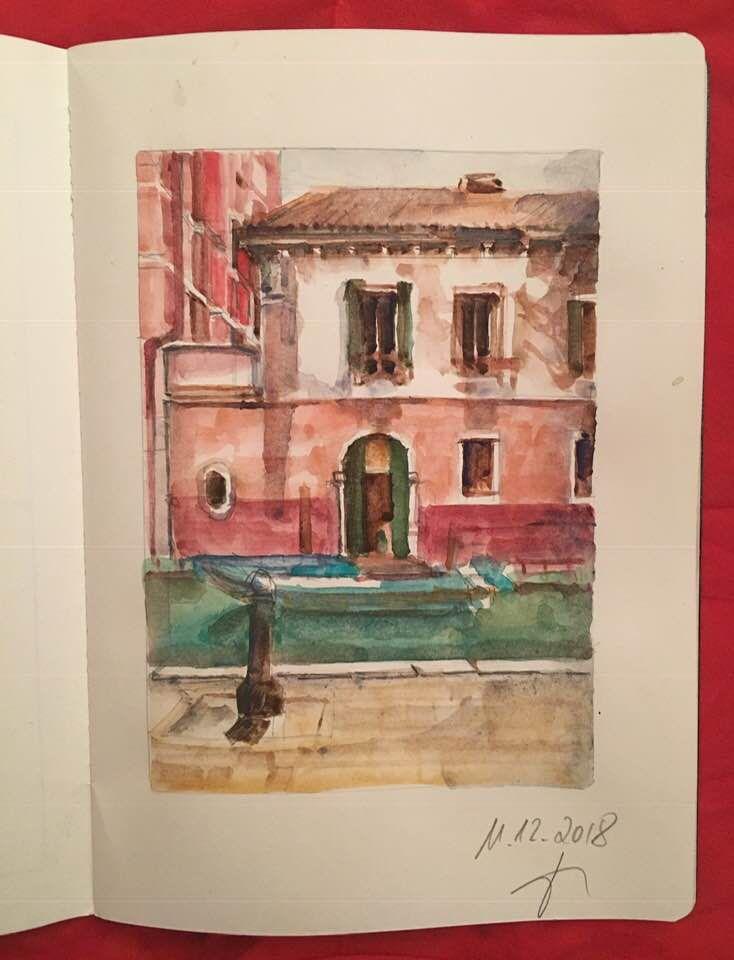 Campiello Piovan Venezia Skizzenbuch Skizzen Aquarell Und Bucher
