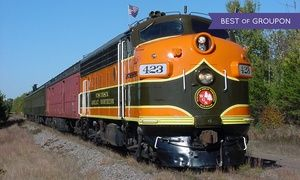 Groupon - $ 229 for a Dinner-Train Bed-and-Breakfast Package for Two ($329 Value) in Trego. Groupon deal price: $229