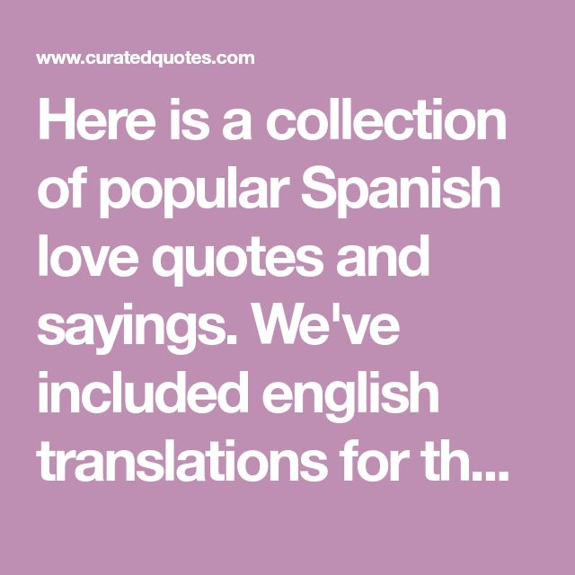 The 25+ best Spanish love sayings ideas on Pinterest | To say in ...
