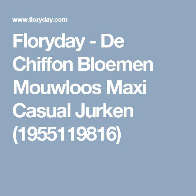 Floryday - De Chiffon Bloemen Mouwloos Maxi Casual Jurken (1955119816)
