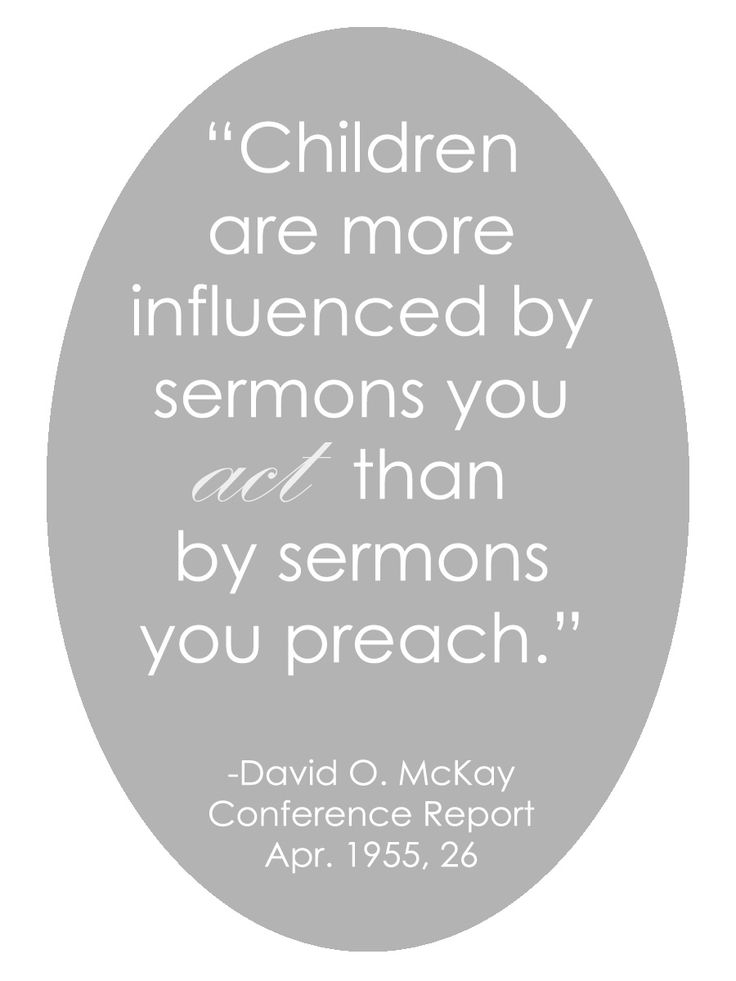 LDS Quote | David O. McKay #Family #Parenting #Example http://sprinklesonmyicecream.blogspot.com/