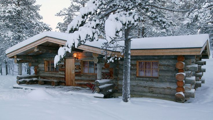 Log Cabin Frontier Snow Winter Firefox Houses Wallpaper Pictures Free