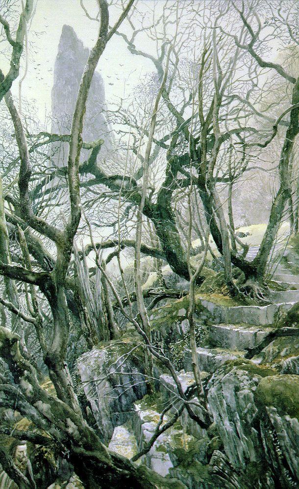 Tol Brandir - Alan Lee [my favourite illustrator]