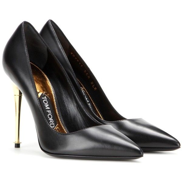 Tom Ford Leather Pumps (21,785 THB) ❤ liked on Polyvore featuring shoes, pumps, tom ford, black, black leather pumps, kohl shoes, leather footwear and genuine leather shoes