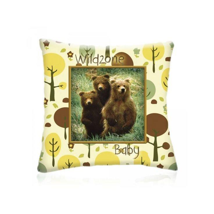 WILD ZONE Baby KISBOCSOK állatos díszpárna 28x28 cm - Díszpárna.com Webáruház