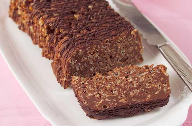 Chocolate rice krispie cake
