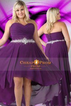 #Plus #Size #Cocktail #Dresses - Sexy Sweetheart Plus Size Short Dark Purple Homecoming Prom Dresses Cheap $ 119.99  - Cheappromprom.com