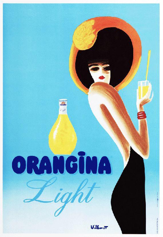 Bernard Villemont Orangina Light Ad Giclee Print