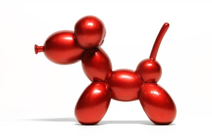 Je n'avais pas la place dans mon salon pour un chien en ballon de Jeff Koons (3m), cette version art toys de 7,5cm fera très bien l'affaire / POP! Super Shiny Mini Series de Kidrobot / #deco #figurine #koons http://www.kidrobot.com/
