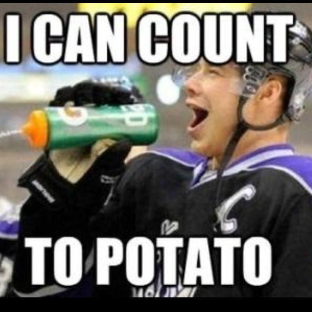 I can count to potato Dustin Brown | A Loves | Pinterest
