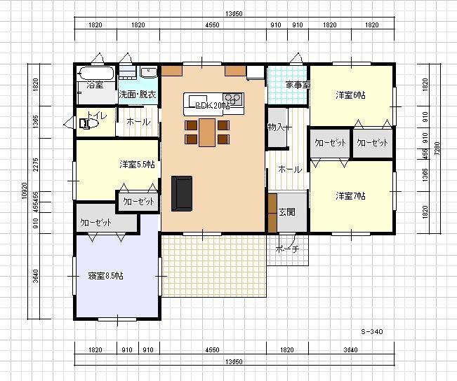 l字型の平屋の間取り 一例を紹介します 91 平屋住宅の間取り 間取り 間取り 30坪