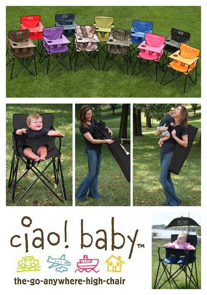 ciao! baby chair - the go anywhere highchair! it's the perfect solution for families on-the-go. Great for travel, outdoors, camping, the beach, dining out, grandma's house and small spaces!    theportablehighchair.com/
