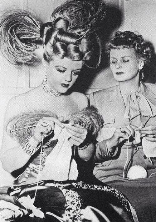 Angela Lansbury and her mother.
