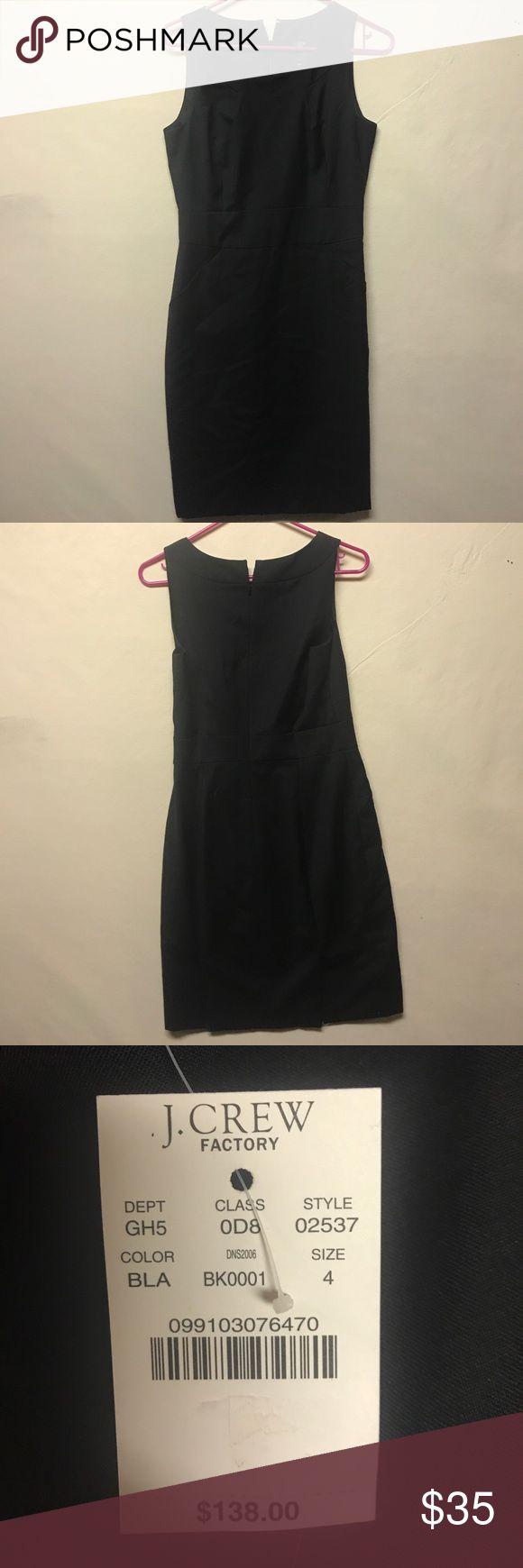 J Crew factory black suiting dress. J Crew factory black suiting dress. Brand new. Never worn tags still attached J. Crew Factory Dresses